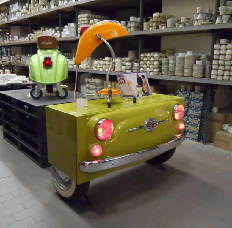 Fiat 500 Cabinet profilo destro