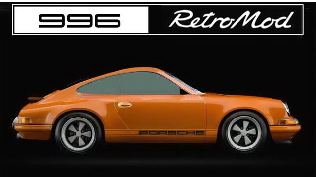 Porsche 996 retromod button