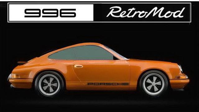 Porsche 996 retromod button