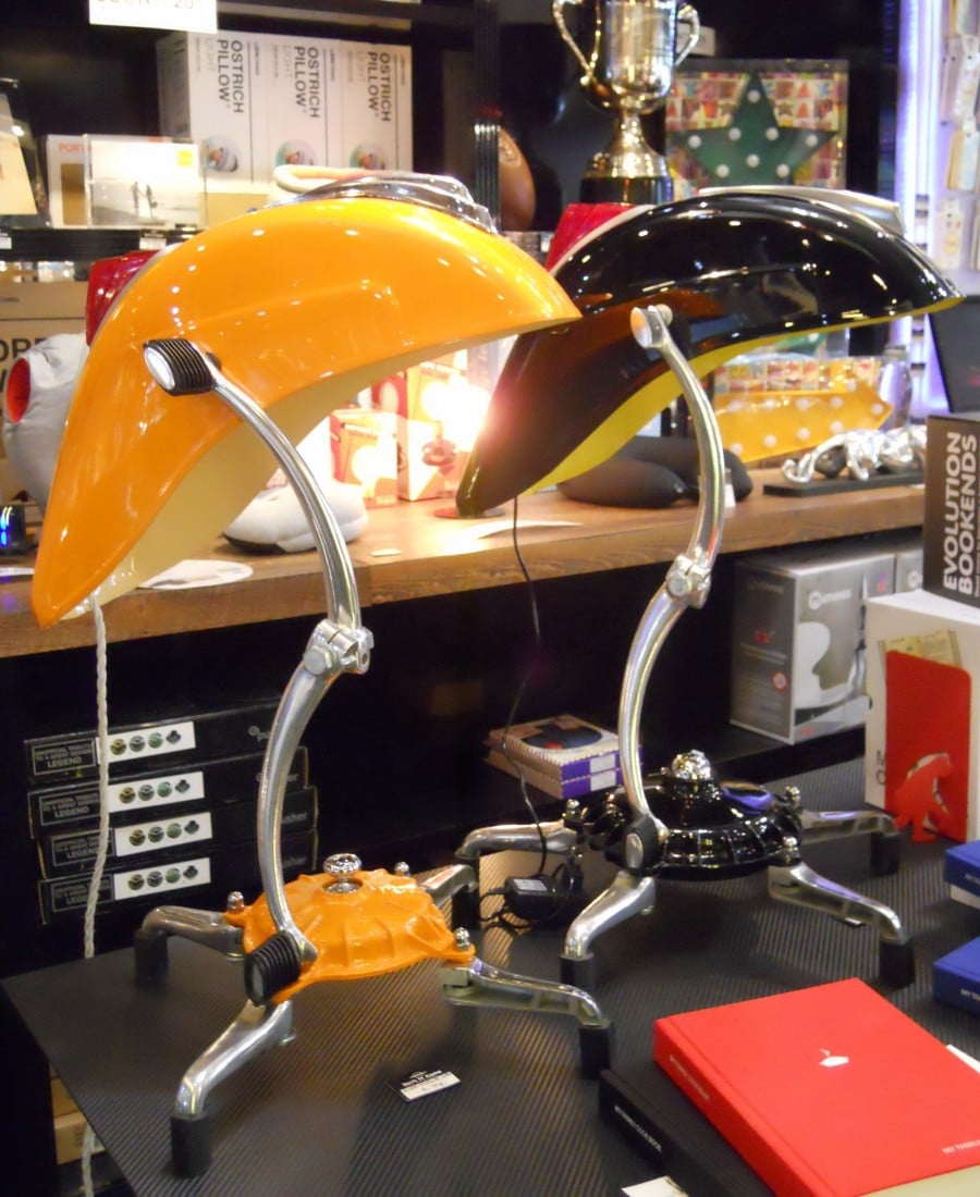 Vespa Tribute Lamps at Store