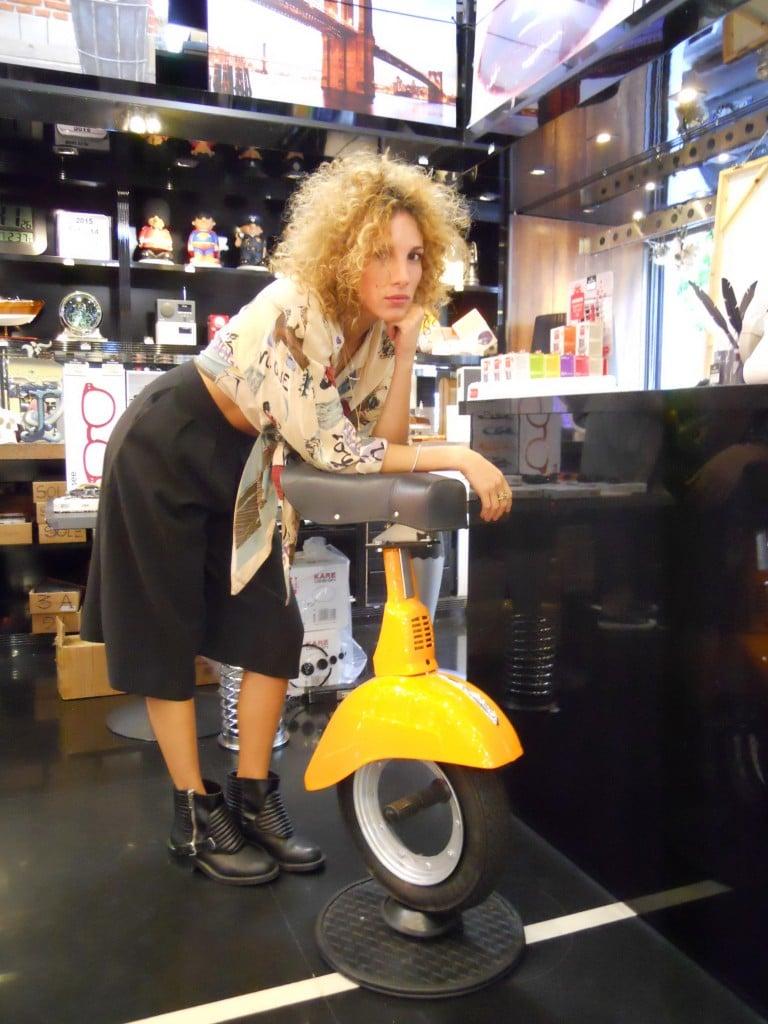"""Vespa Twist Stool Camilla Posani """"biker"""""""