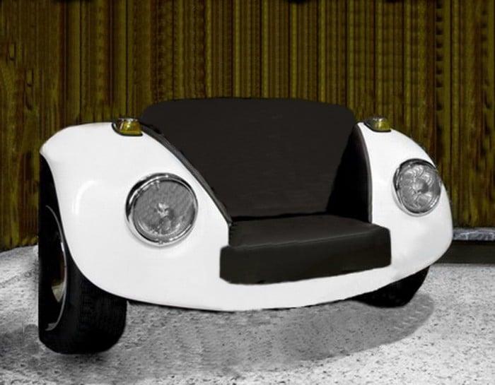 VW Beetle Sofa side