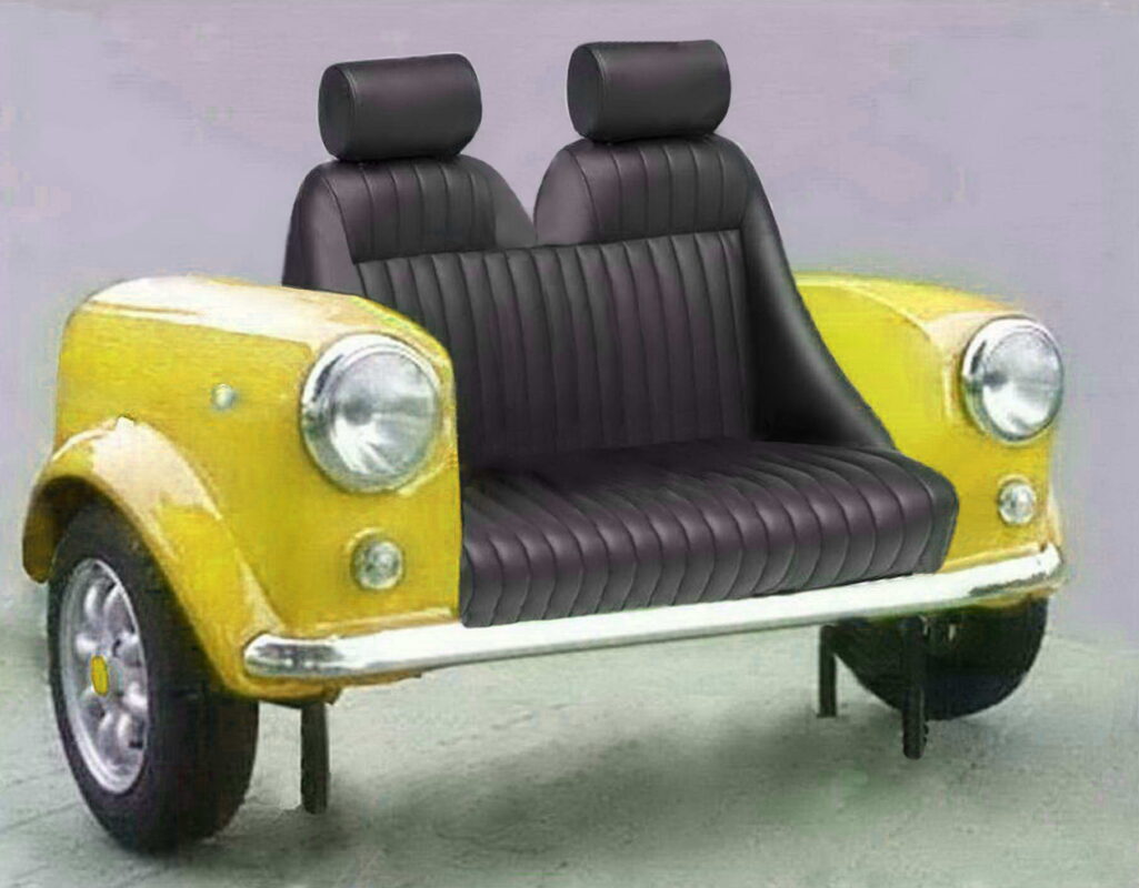 mini couch sport yellow