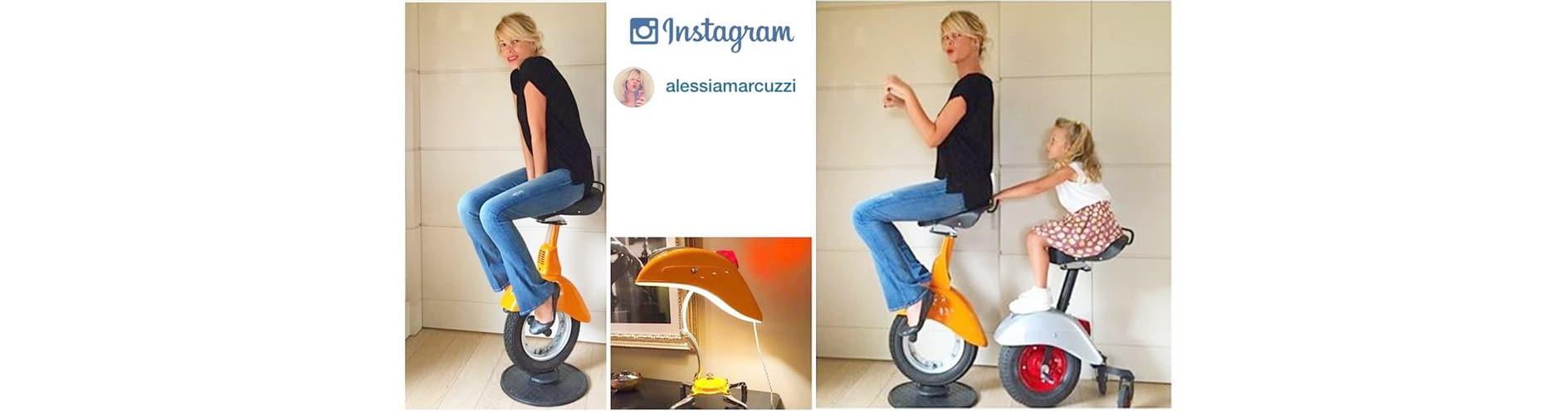 Alessia Marcuzzi vespa twist stool