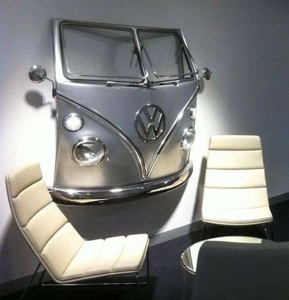 VW T1 Front Wall Ready Silver Metallic