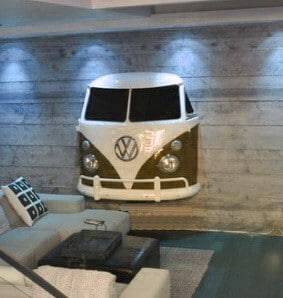 VW T1 Front Wall Ready Brown White