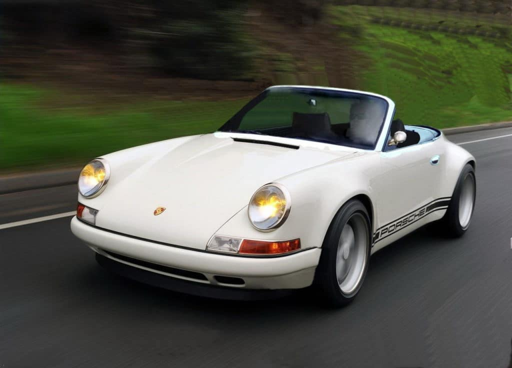 Porsche 996 retromod cabrio front
