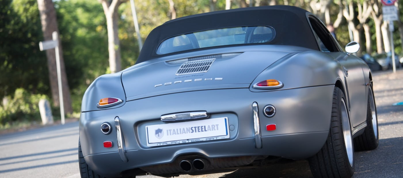 Porsche_Boxster_RetroMod_rear closed top