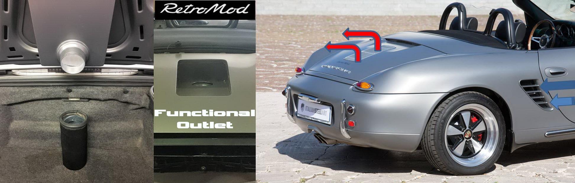 Porsche Boxster Retromod air systen