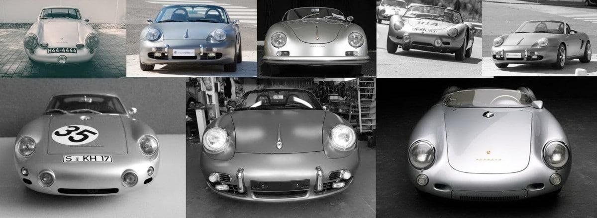 Porsche Boxster Retromod banner collage