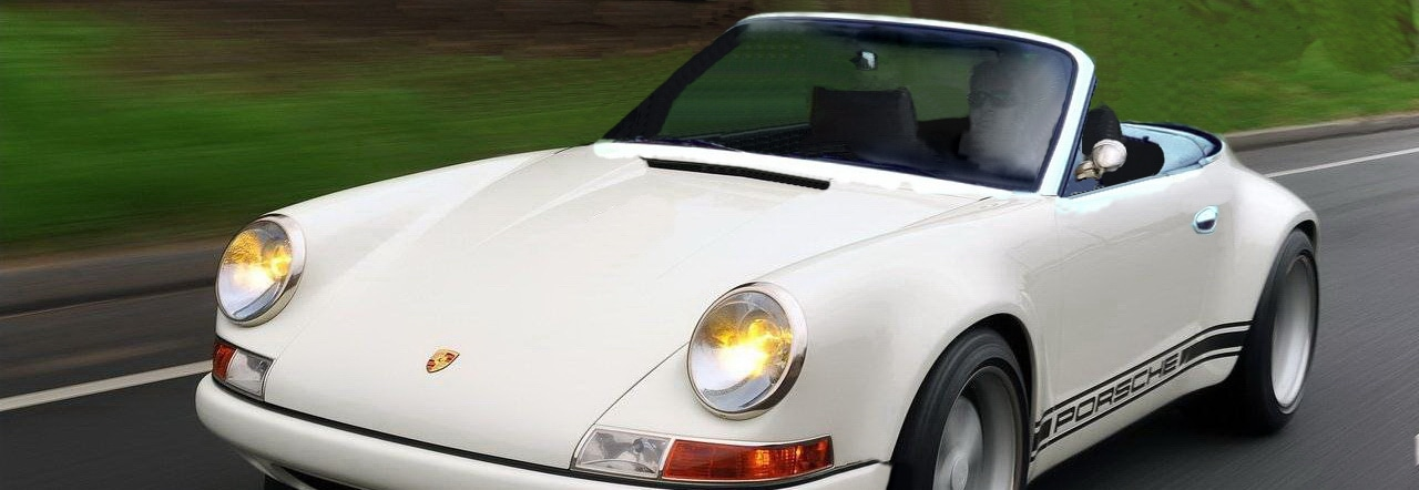 Porsche 996 retromod cabrio front banner