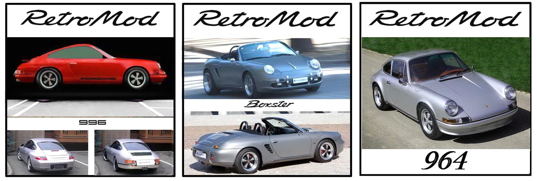 Porsche Retromod Banner white