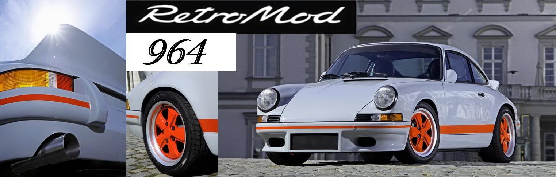 Banner Porsche 964 retromod grey1