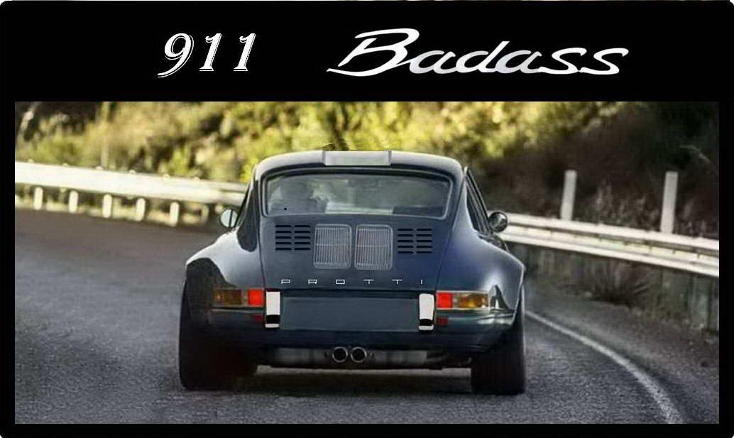 banner porsche 911 Badass icon