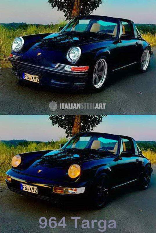 Porsche 964 Targa Badass front bef after