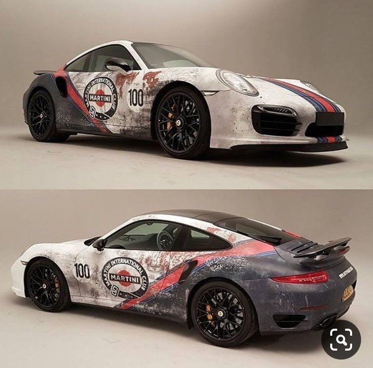 Porsche Martini wrapped