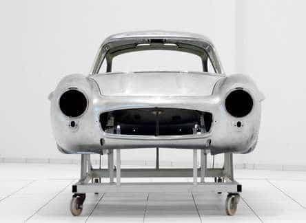 Mercedes 300 gullwing body shell rear
