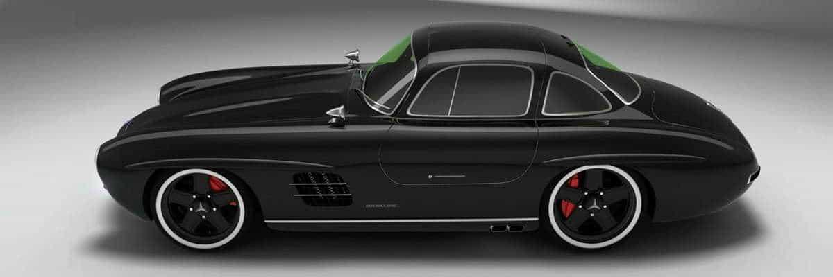 Mercedes Benz 300SL-SLK black banner