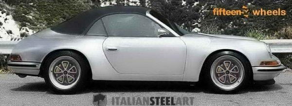 Porsche 996 retromod outlaw rims